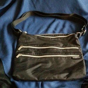 Baggallini multi zip compartment crossbody bag